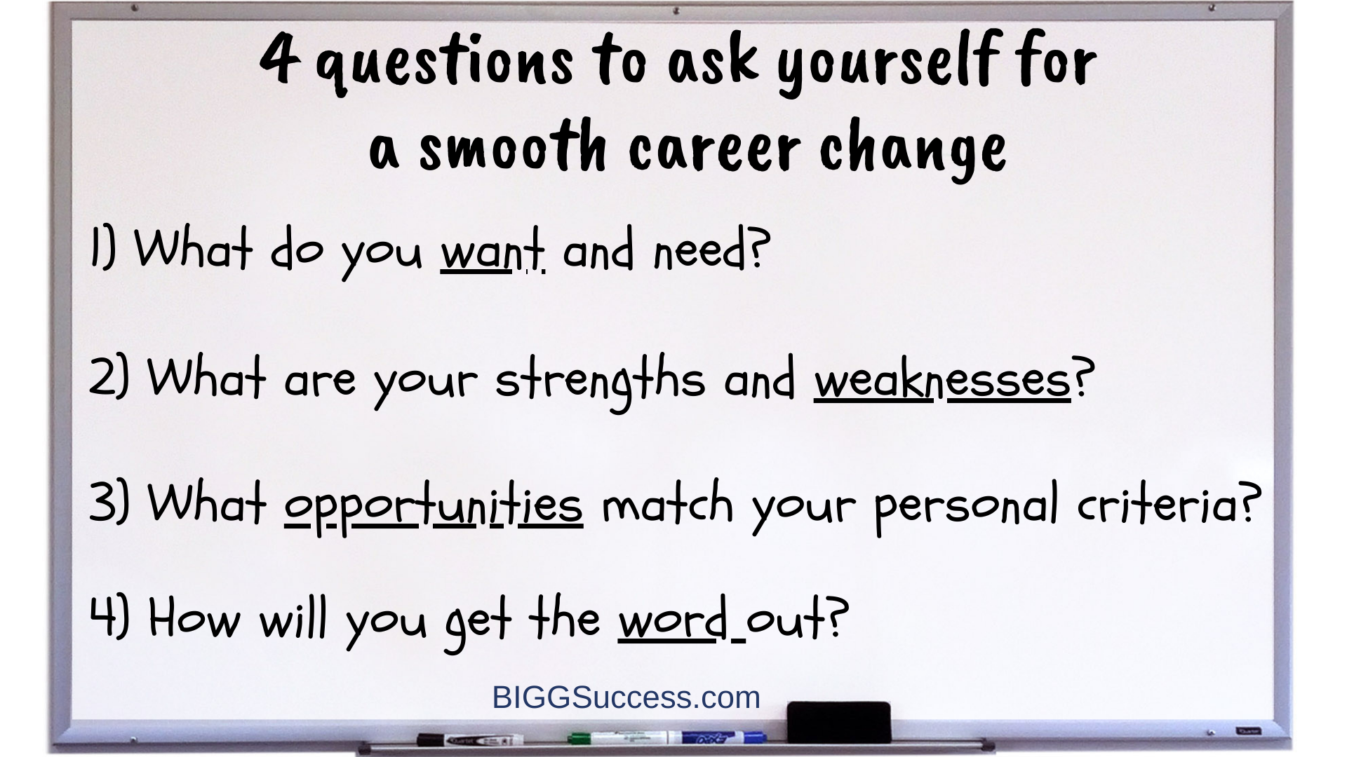 Whiteboard 1064-4 questions for a smooth career change