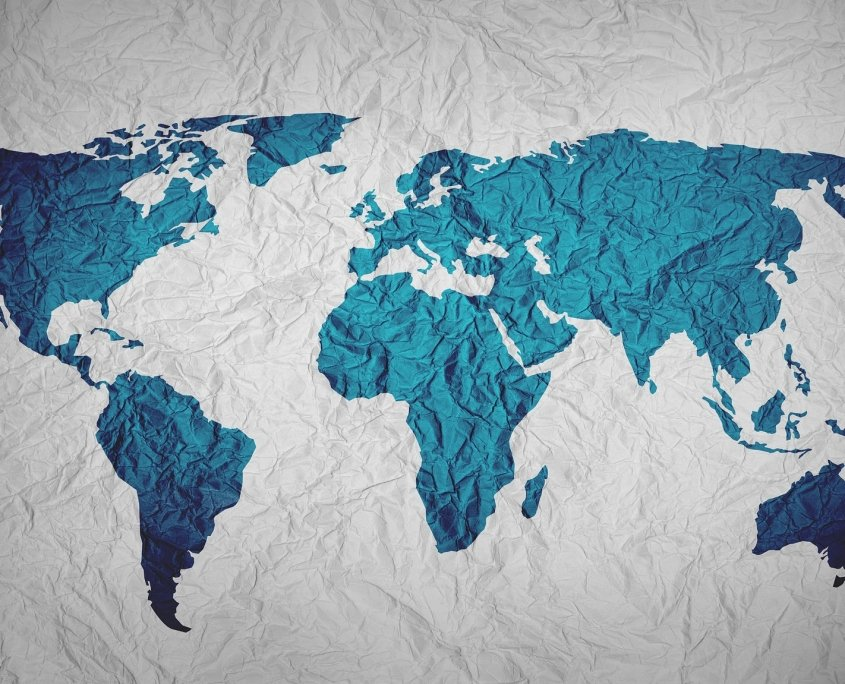 image of a map for the blog post see the world while you work
