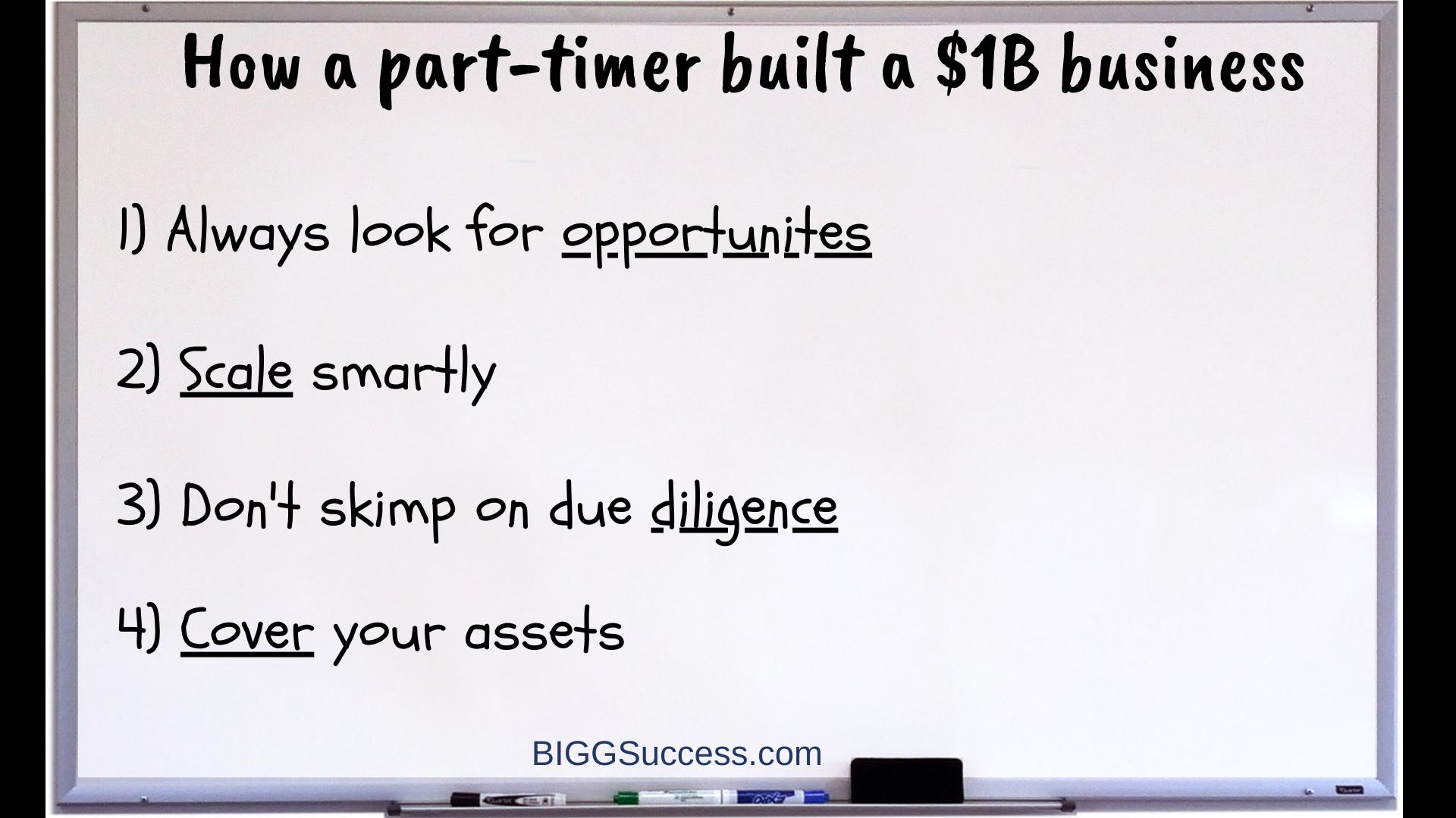 Whiteboard 1056 - part time job to billion dollar business