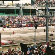 Image of car speeding by at the Indy 500