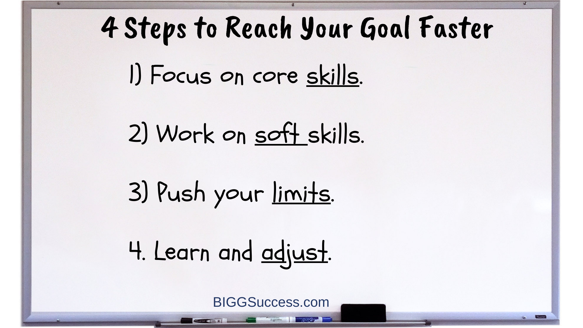 Whiteboard 1060 - 4 Steps to Reach Your Goal Faster