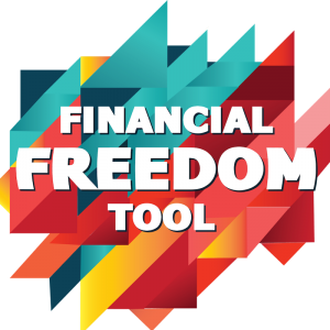 Financial Freedom Tool background and text logo