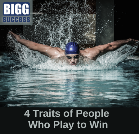 image of competitive swimmer with the blog post title 4 Traits of People Who Play to Win