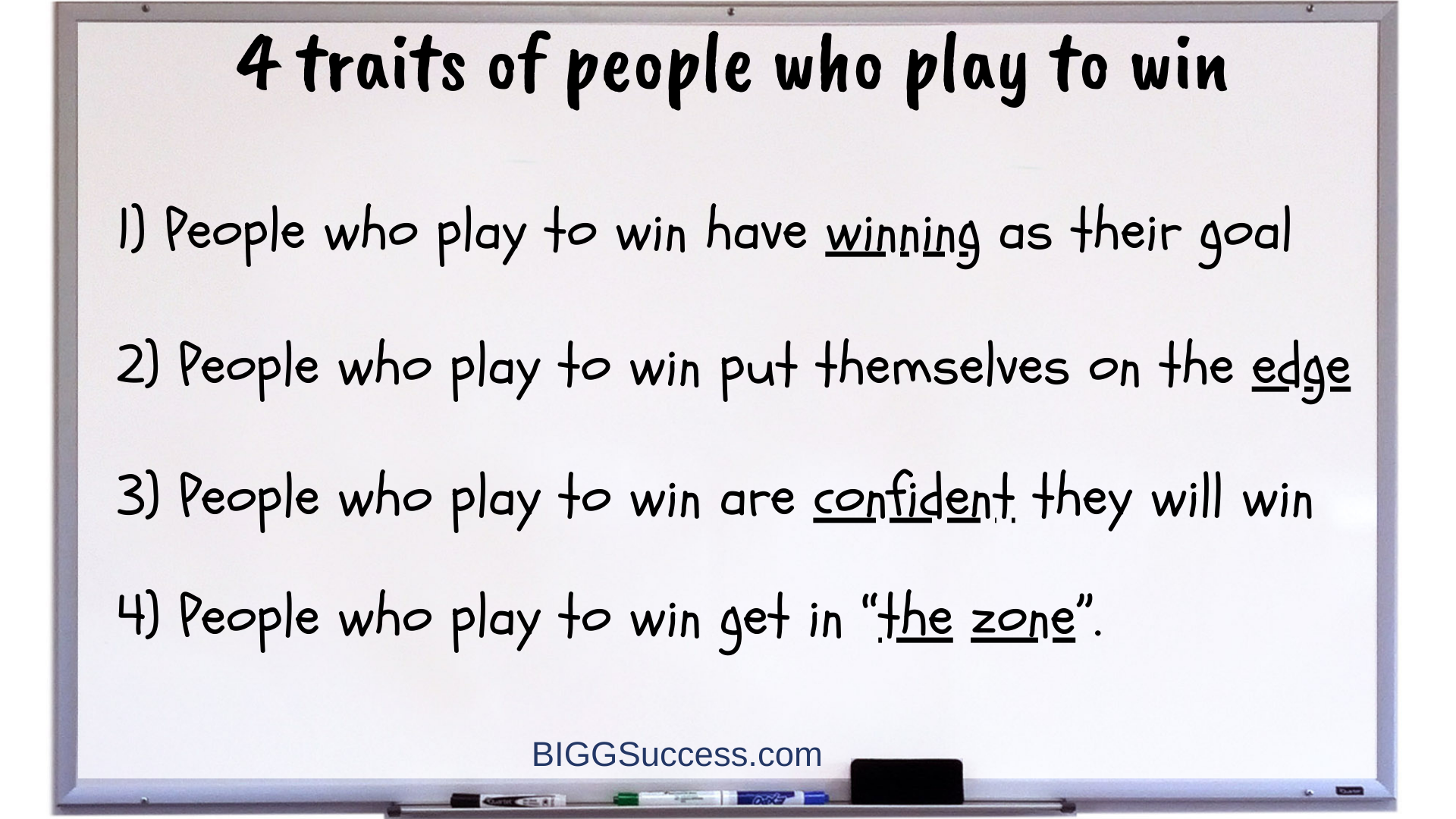 Whiteboard 1067-4 Traits of People Who Play to Win