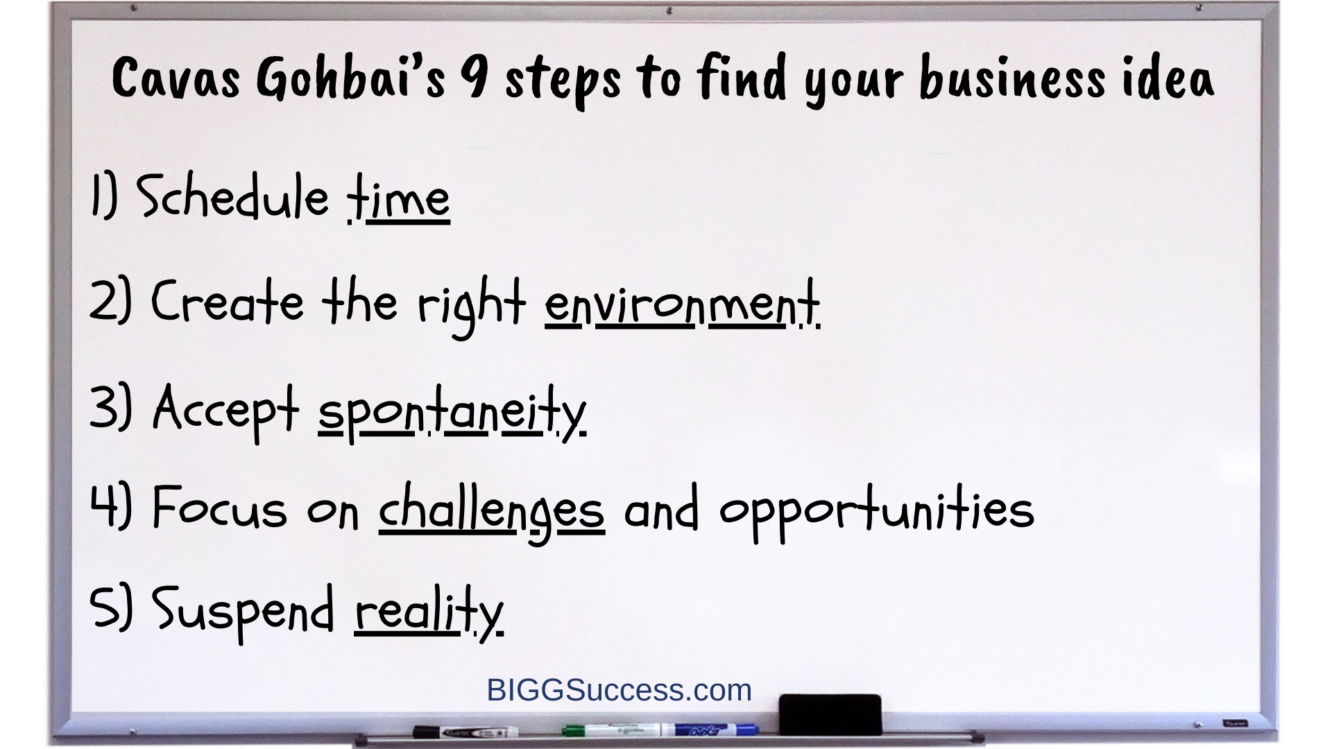 Whiteboard 1066-9 Steps to Find Your Business Idea 1