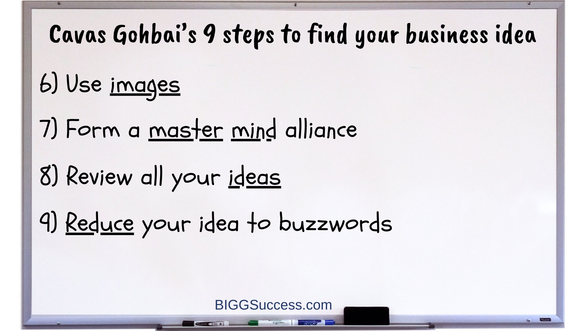 Whiteboard 1066-9 Steps to Find Your Business Idea 2