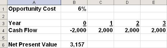 Microsoft Excel set up screen shot