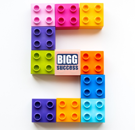 the number 5 created by legos for the post 5 elements of BIGG Success