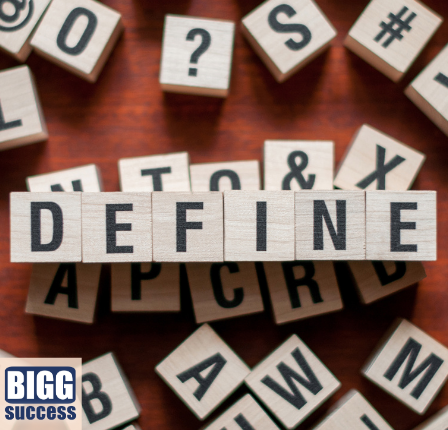scrabble pieces spell define for the post power of defining your terms