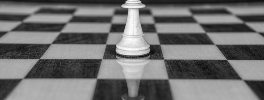 a chess game which has similarities to having to think like an entrepreneur