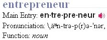 Entrepreneur in the dictionary