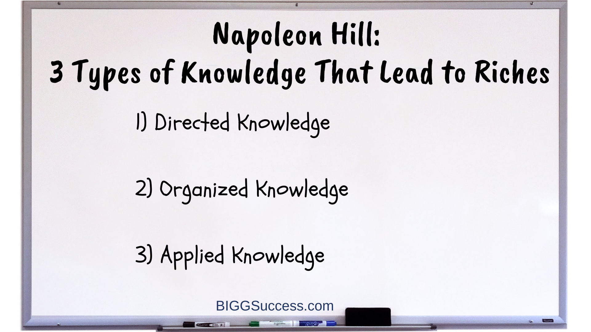 9 Whiteboard 3 Types of Knowledge That Lead to Riches