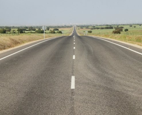 image of long road for post about journey to success
