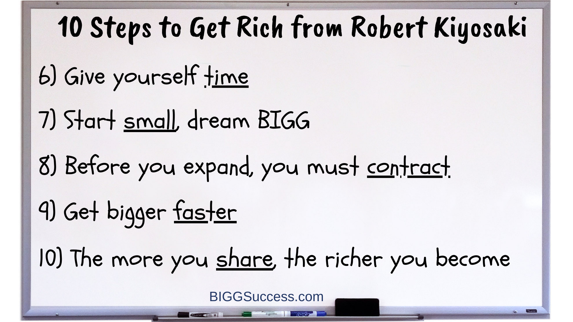 whiteboard 1062 - 10 steps to get rich 6-10