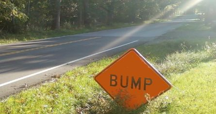 bump in the road sign