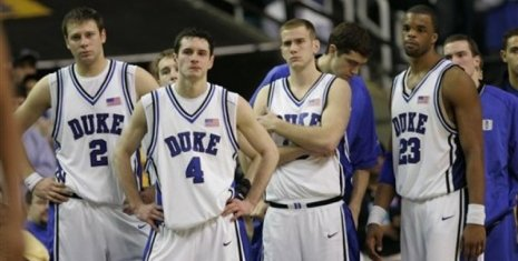the agony of defeat-Duke