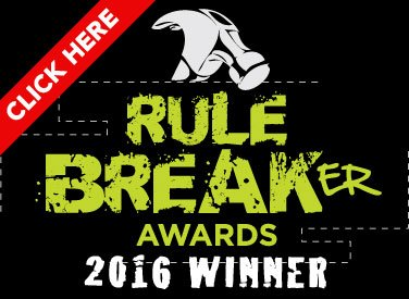Rule Breaker Awards 2016 Winner Badge