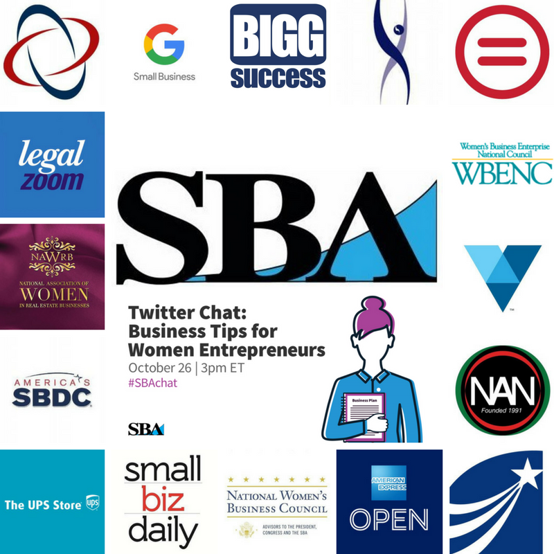 SBAchat participants and resources for women entrepreneurs