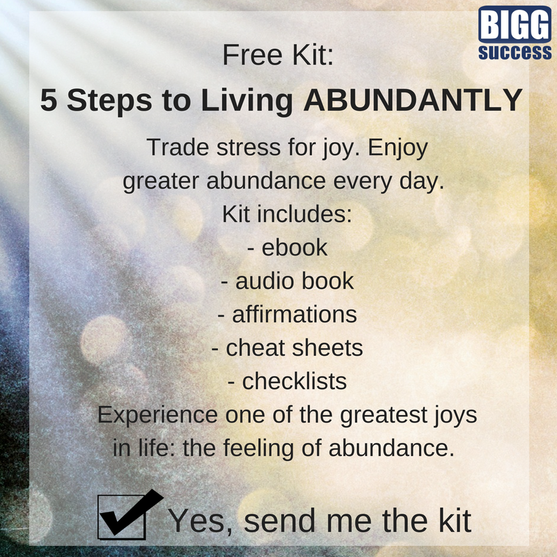 5 Steps to Living ABUNDANTLY Signup