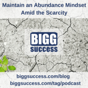 Maintain an Abundance Mindset blog post title image