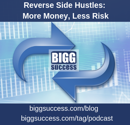 Image of 2 arrows and charts for our blog post about reverse side hustles