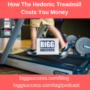 image of a treadmill for the blog post titled: The Hedonic Treadmill Costs You Money