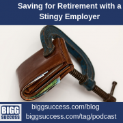 An image of a wallet squeezed shut for the blog post titled Saving for Retirement with a Stingy Employer