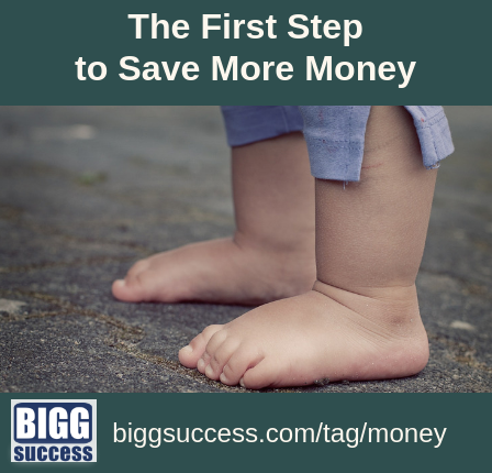 The First Step to Save More Money blog post image