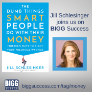 Image of Jill Sclesinger and her book cover The Dumb Things Smart People Do With Their Money