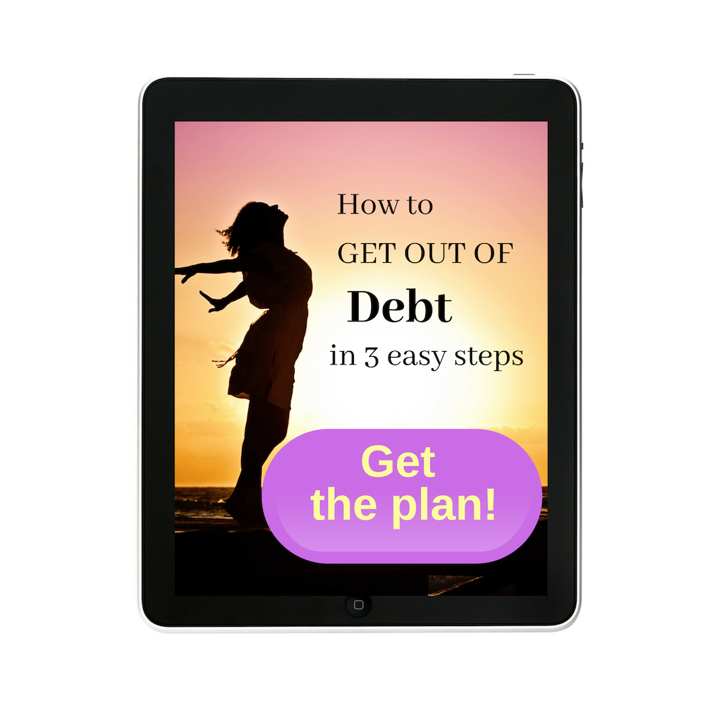 get out of debt ebook cover on ipad
