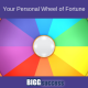 image of prize wheel with the blog title: Your Personal Wheel of Fortune