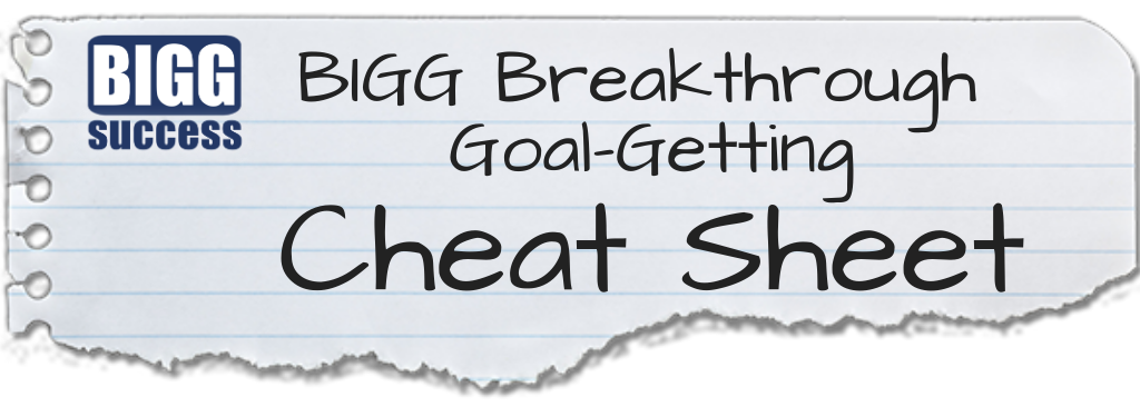 Free our BIGG Breakthrough Goal-Getting Template