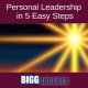 image of a bright star with the post title: Personal leadership in 5 easy steps