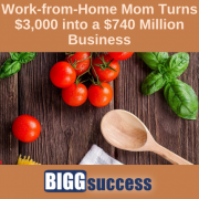image of food on a table with a wooden spoon and the blog title:Work From Home Business Story