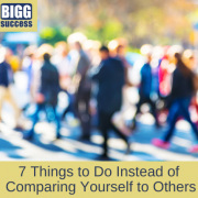 image of people walking with article title 7 Things to Do Instead of Comparing Yourself to Others