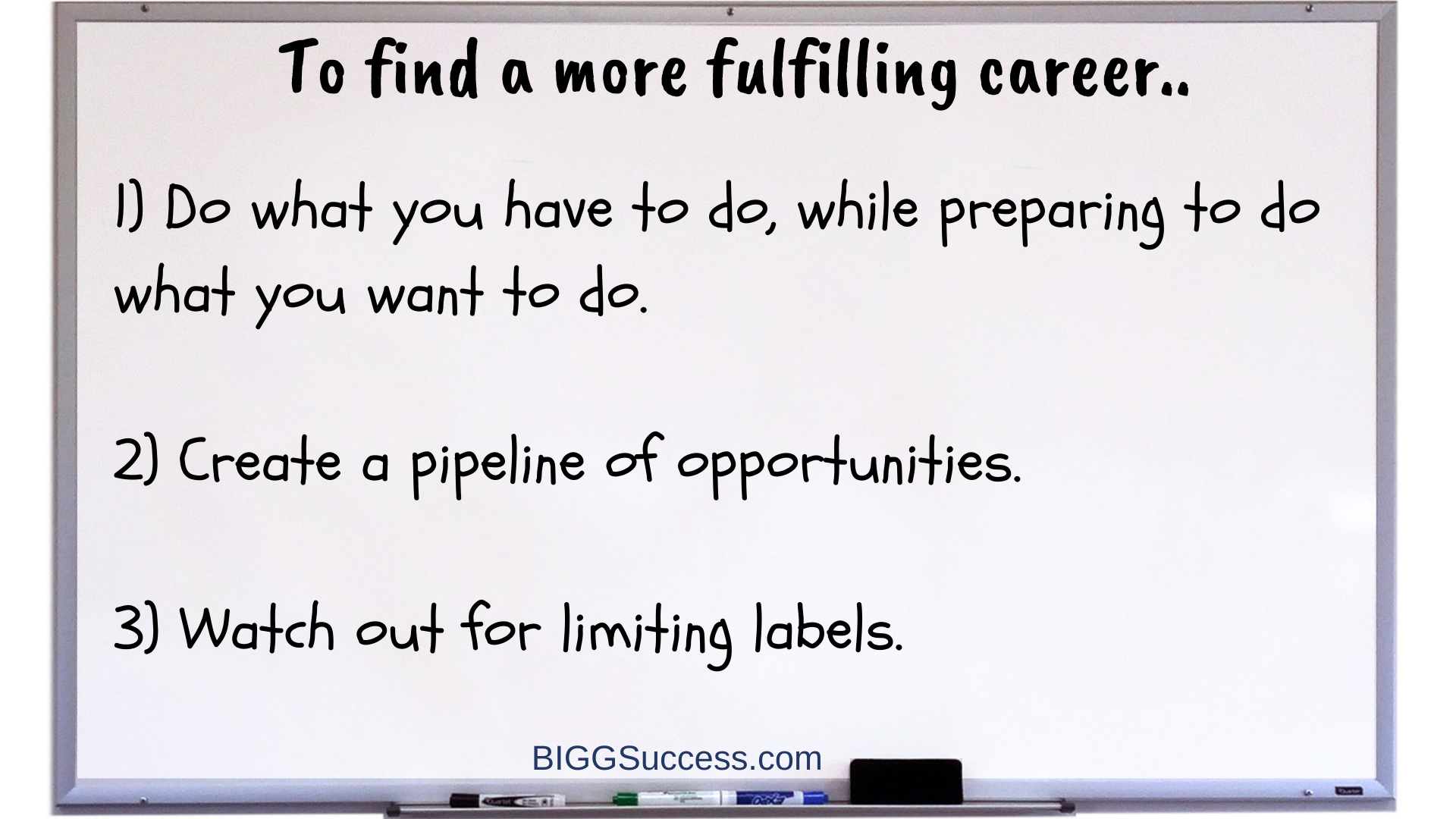 a more fulfilling career whiteboard